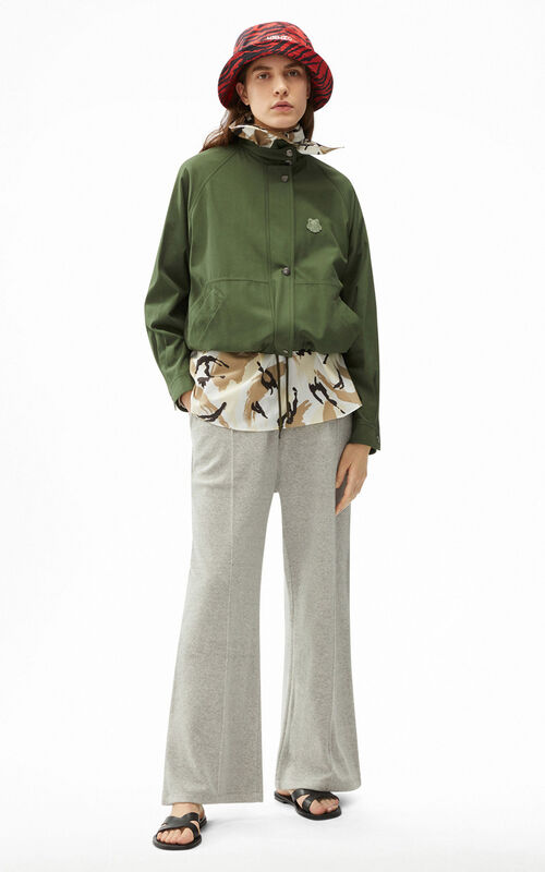 DARK KHAKI Tiger Crest jacket for women KENZO