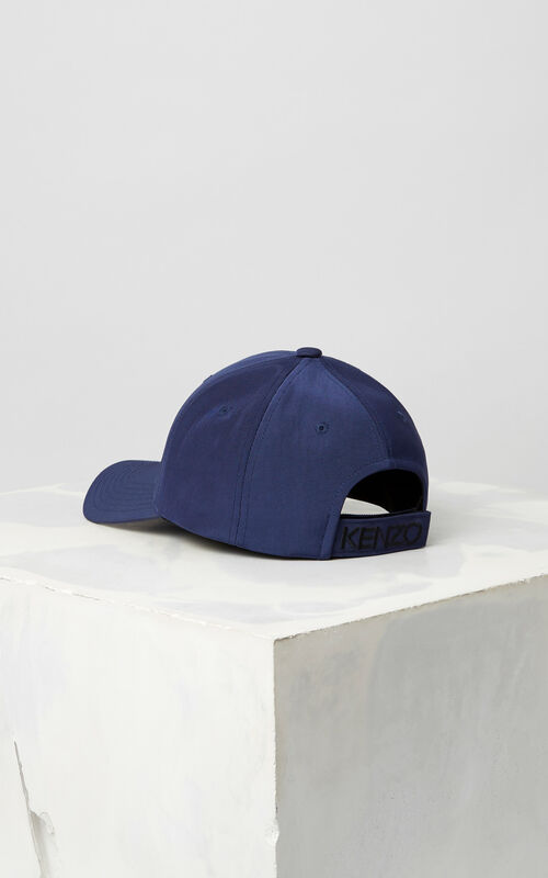 NAVY BLUE Tiger Canvas Cap for men KENZO