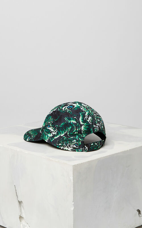 GRASS GREEN 'Flying Tiger' Caps for unisex KENZO
