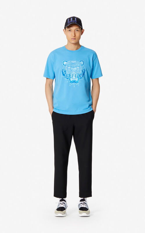 fa05f7fd584f ... CYAN Tiger T-shirt for men KENZO