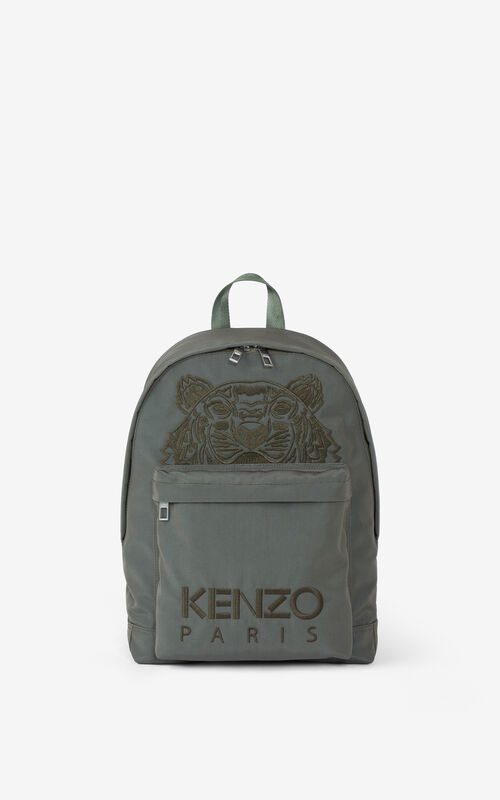 BRONZE Canvas Kampus Tiger backpack for unisex KENZO