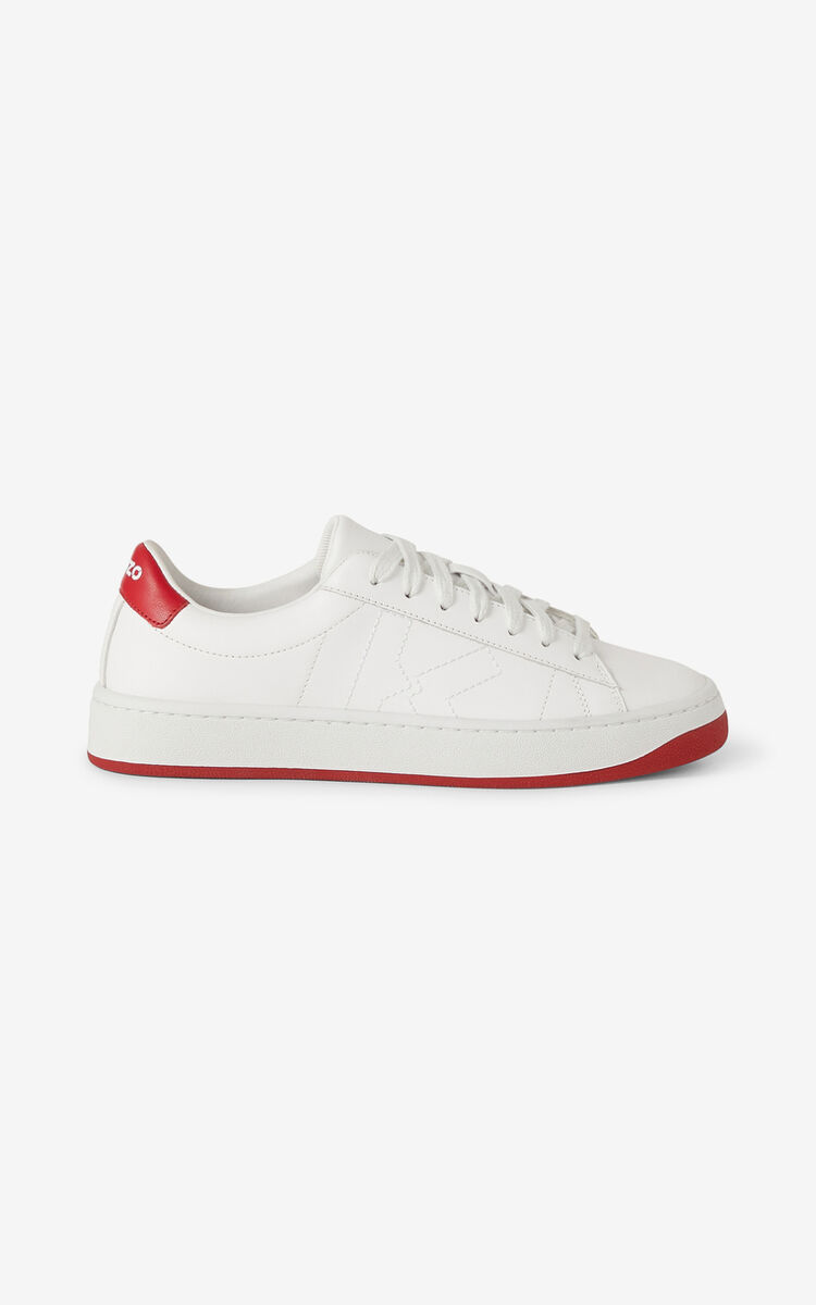 POPPY KENZO Kourt K Logo leather trainers for unisex