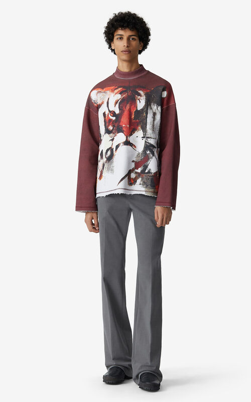 BORDEAUX Sweatshirt with Júlio Pomar illustration for men KENZO