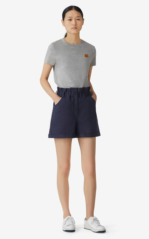 PEARL GREY Tiger Crest T-shirt for women KENZO