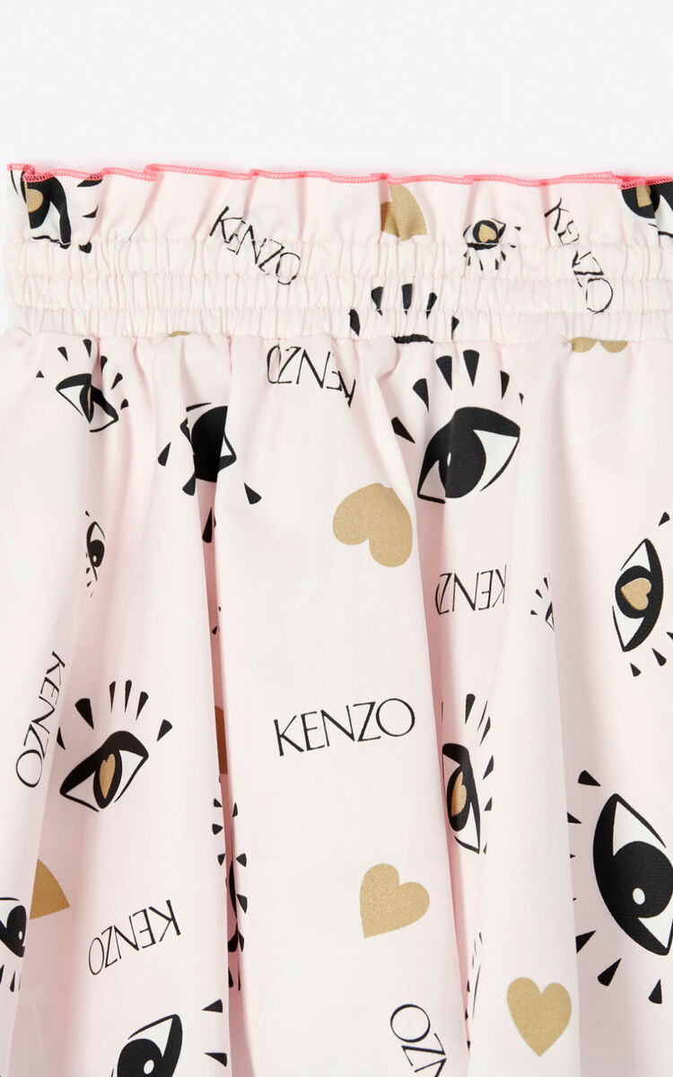 FADED PINK 'KENZO Party' Eye skirt for unisex