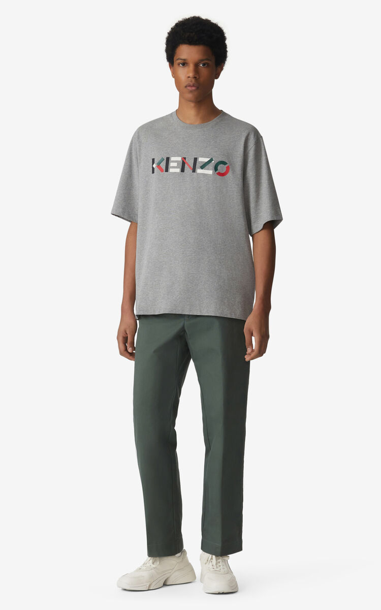 PEARL GREY KENZO Logo t-shirt for men