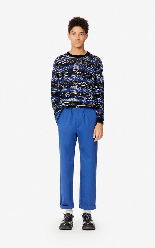 MIDNIGHT BLUE Mermaids' jumper for men KENZO