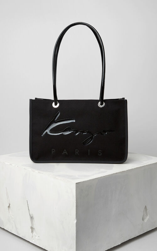 BLACK KENZO Signature Tote Bag for women