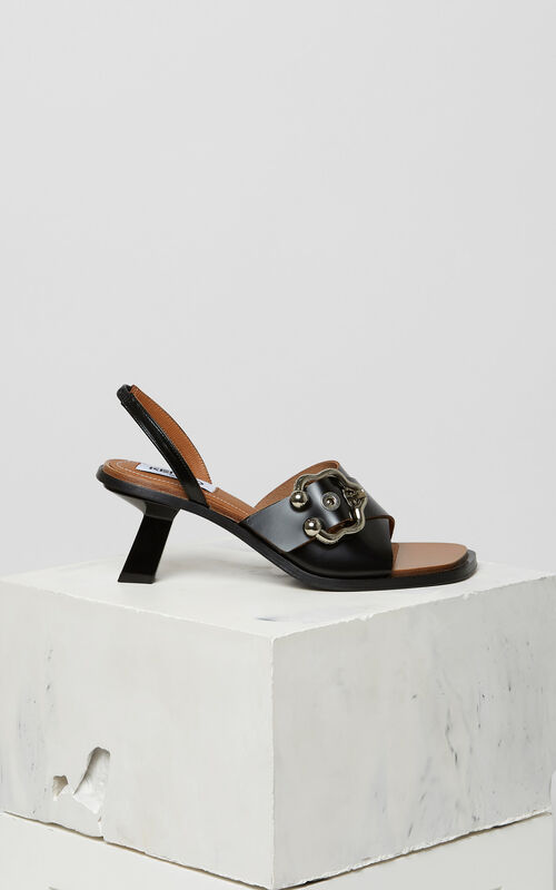 BLACK Rita heeled sandals for women KENZO