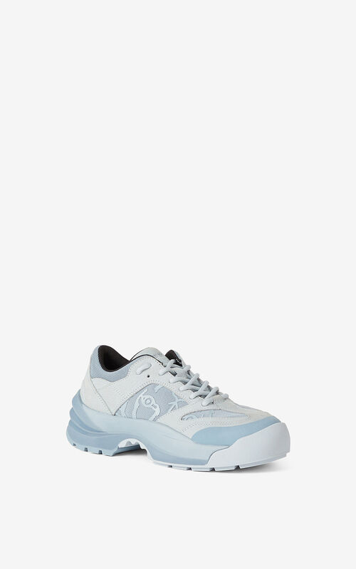 PALE GREY KENZO Work sneakers for unisex