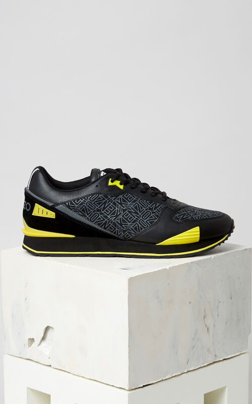 BLACK Flying KENZO K-run sneaker for men