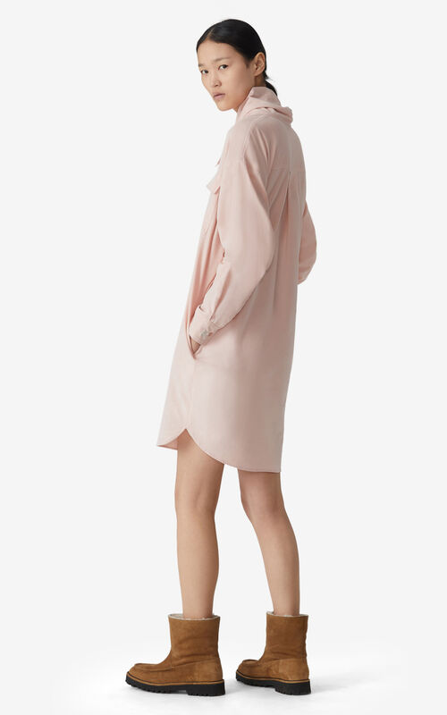 FADED PINK Cowl neck dress for women KENZO