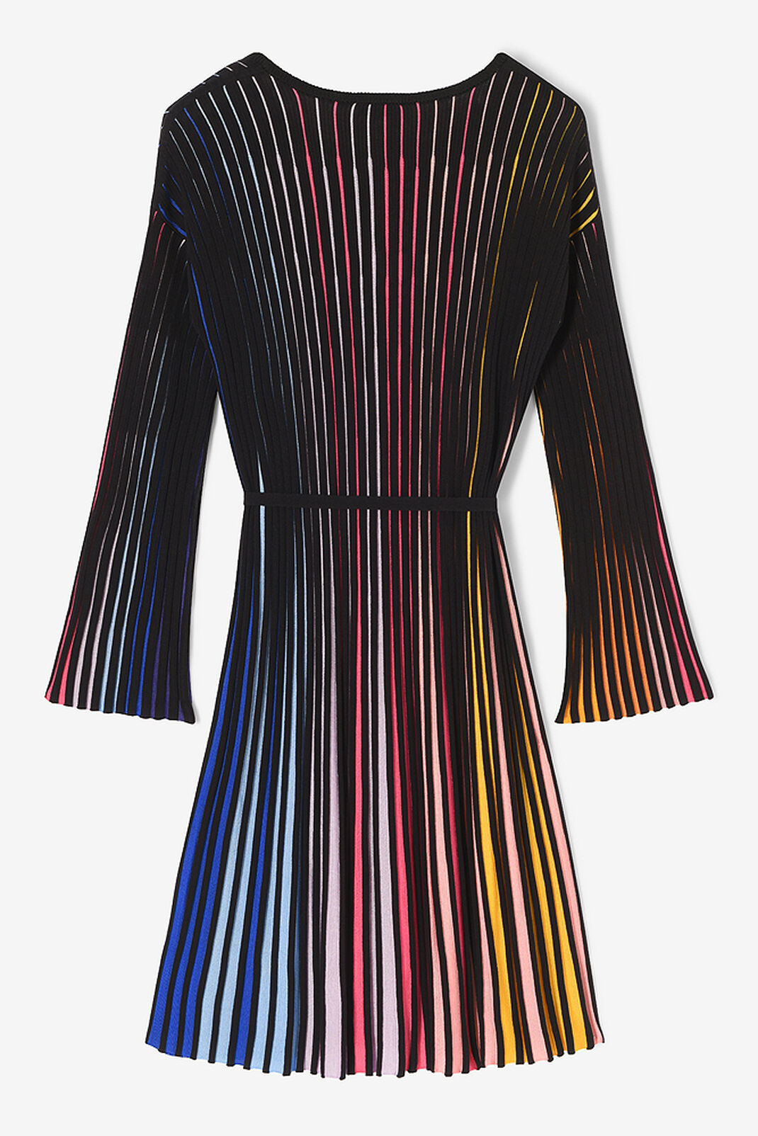 MULTICOLOR Rib-knit color block dress for women KENZO