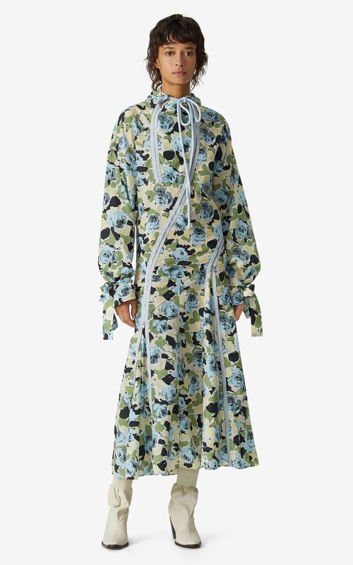 IVORY Rose Camo' flared dress for men KENZO