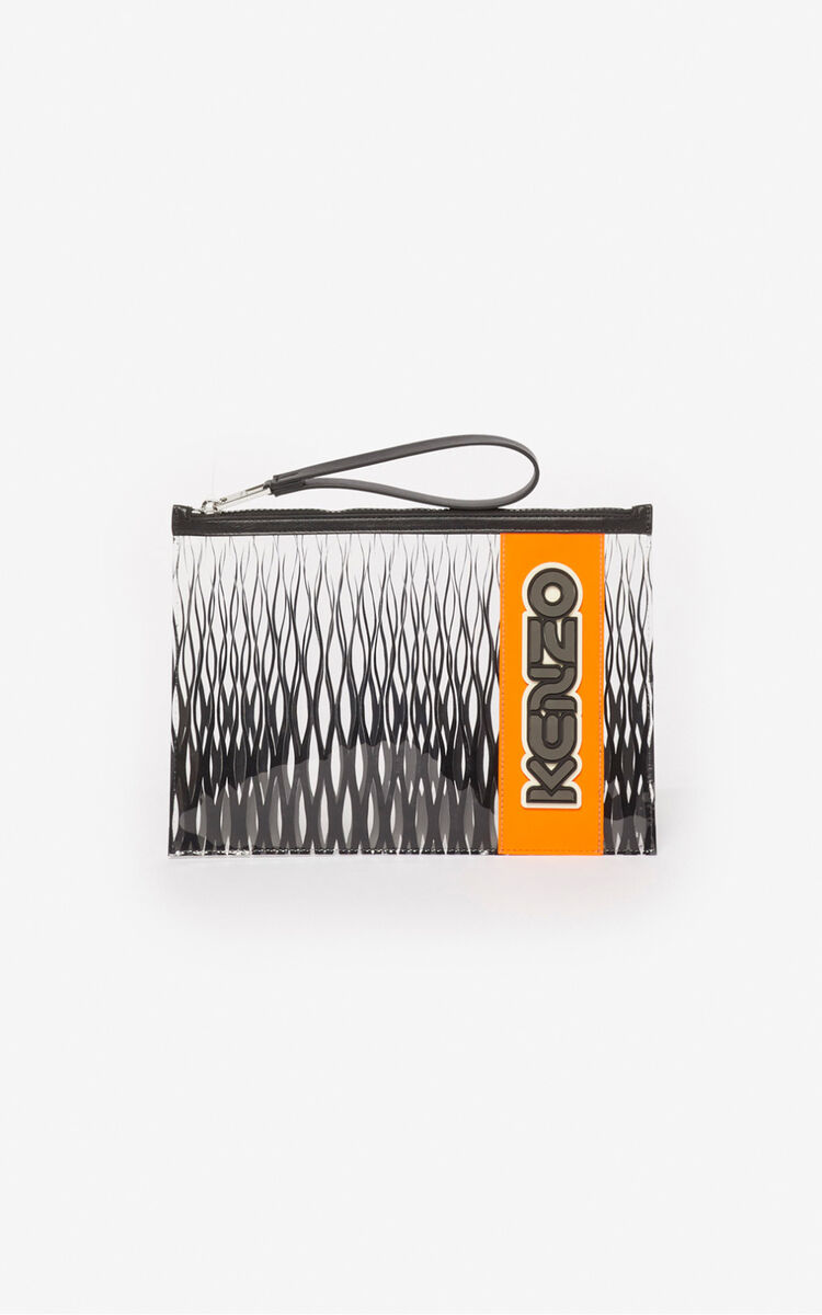 BLACK 'Kenzomania' A4 clutch for unisex