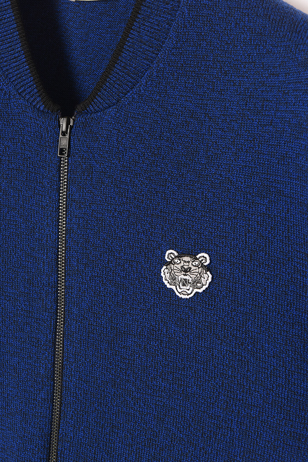 NAVY BLUE Zipped Tiger Crest Cardigan for men KENZO