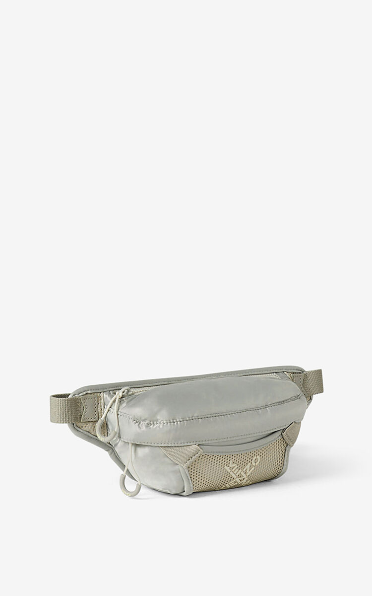 PALE GREY KENZO Sport small bumbag for women