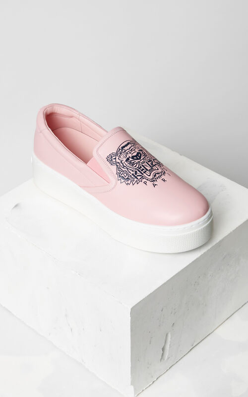 Tiger Slip-on Platform, FADED PINK, KENZO