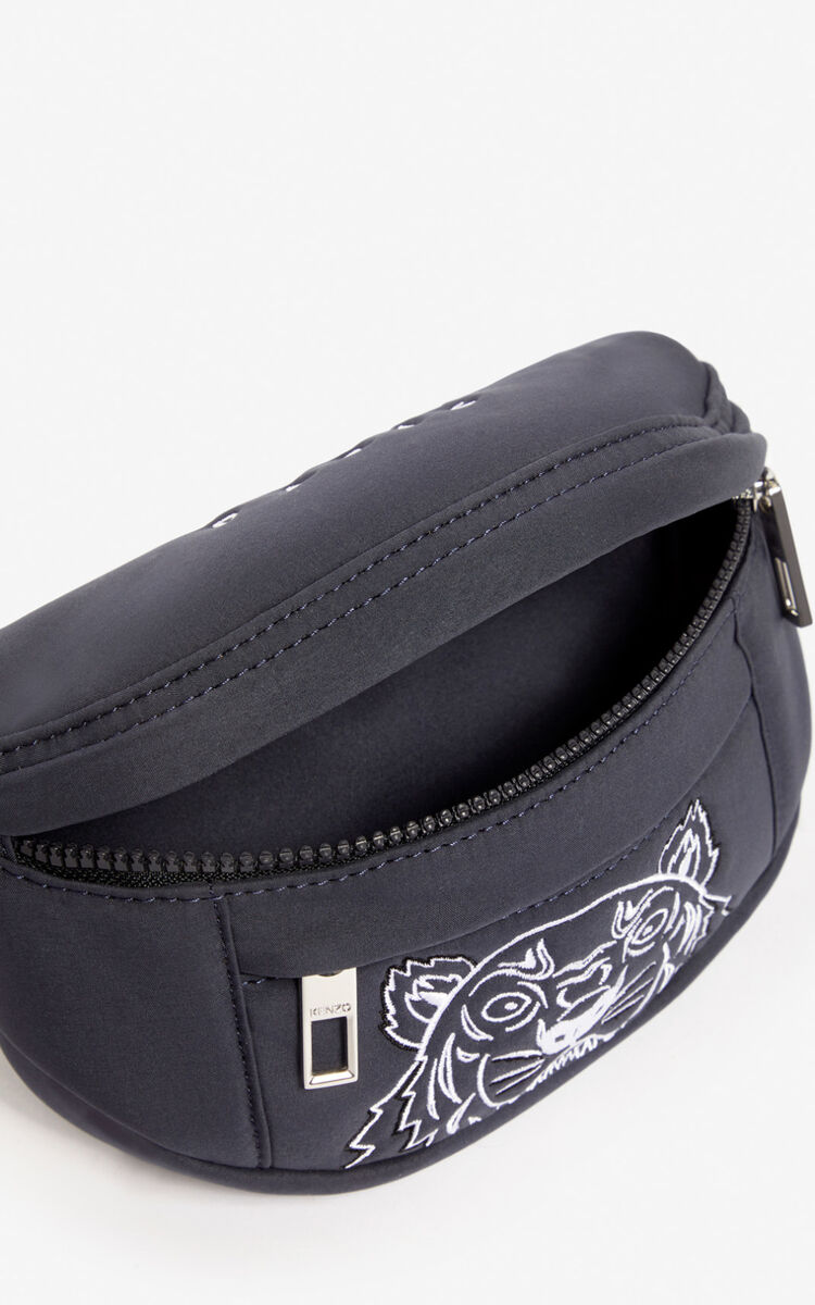 ANTHRACITE Tiger mini belt bag for unisex KENZO