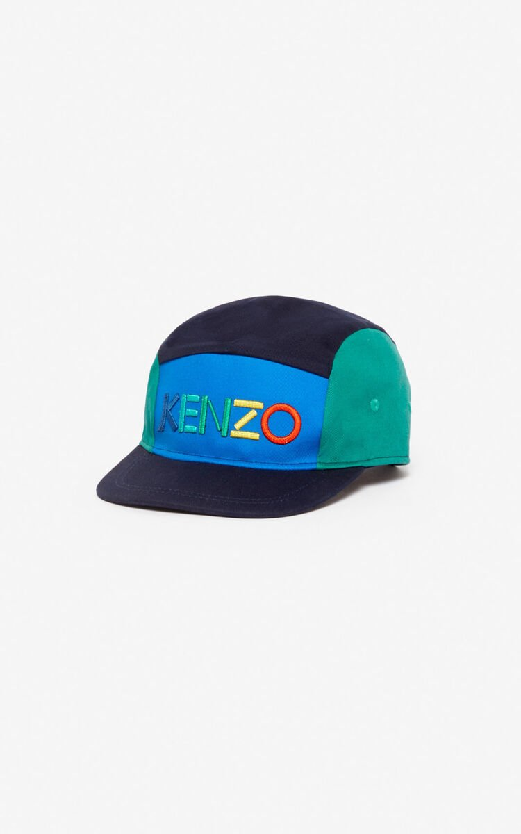 NAVY BLUE KENZO colourblock cap for women