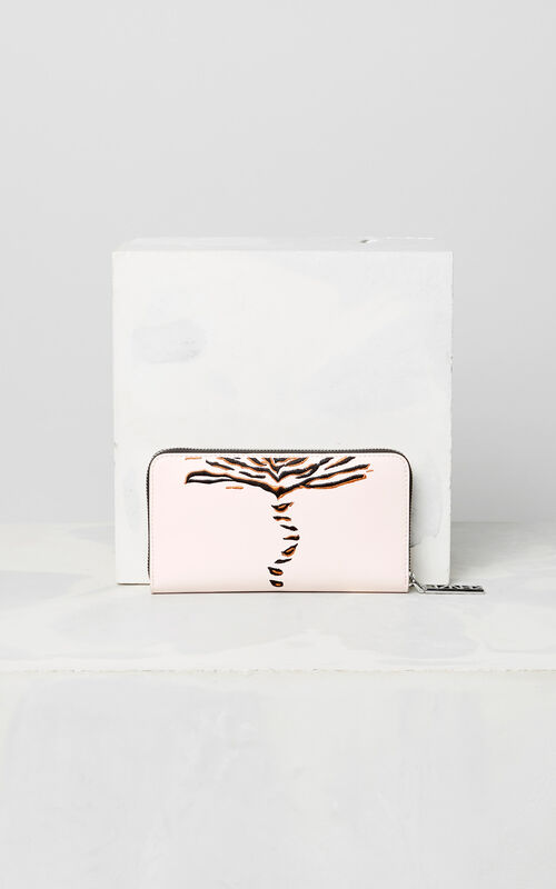 FADED PINK 'Crawling Tiger' Wallet for women KENZO