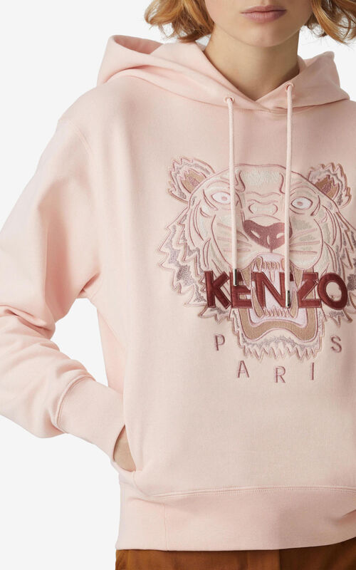 FADED PINK Tiger hoodie for men KENZO