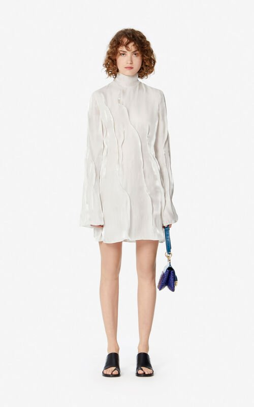 OFF WHITE 'Wave' flowing dress for women KENZO