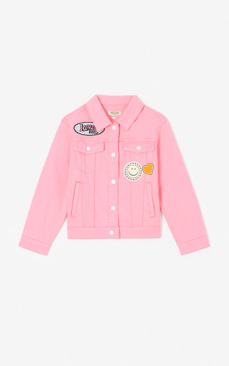 DEEP PINK 'Cali Party' Denim Jacket for men KENZO