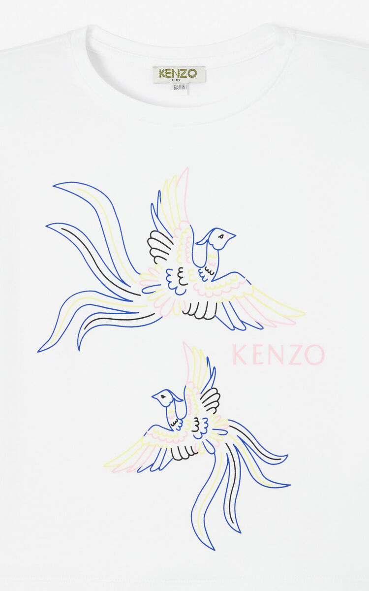 WHITE 'Phoenix Celebration' T-shirt for men KENZO