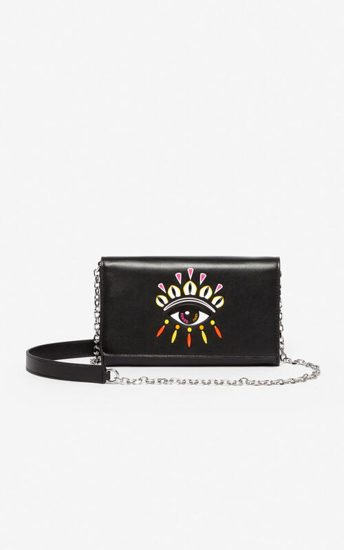 BLACK Kontact Eye 2-in-1 wallet for unisex KENZO