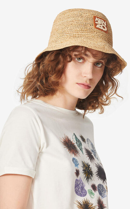 OFF WHITE Raffia 'High Summer Capsule Collection' bucket hat for women KENZO