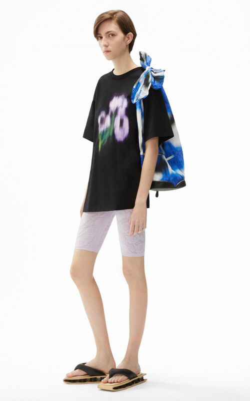 BLACK Coquelicot' Oversize T-shirt for women KENZO