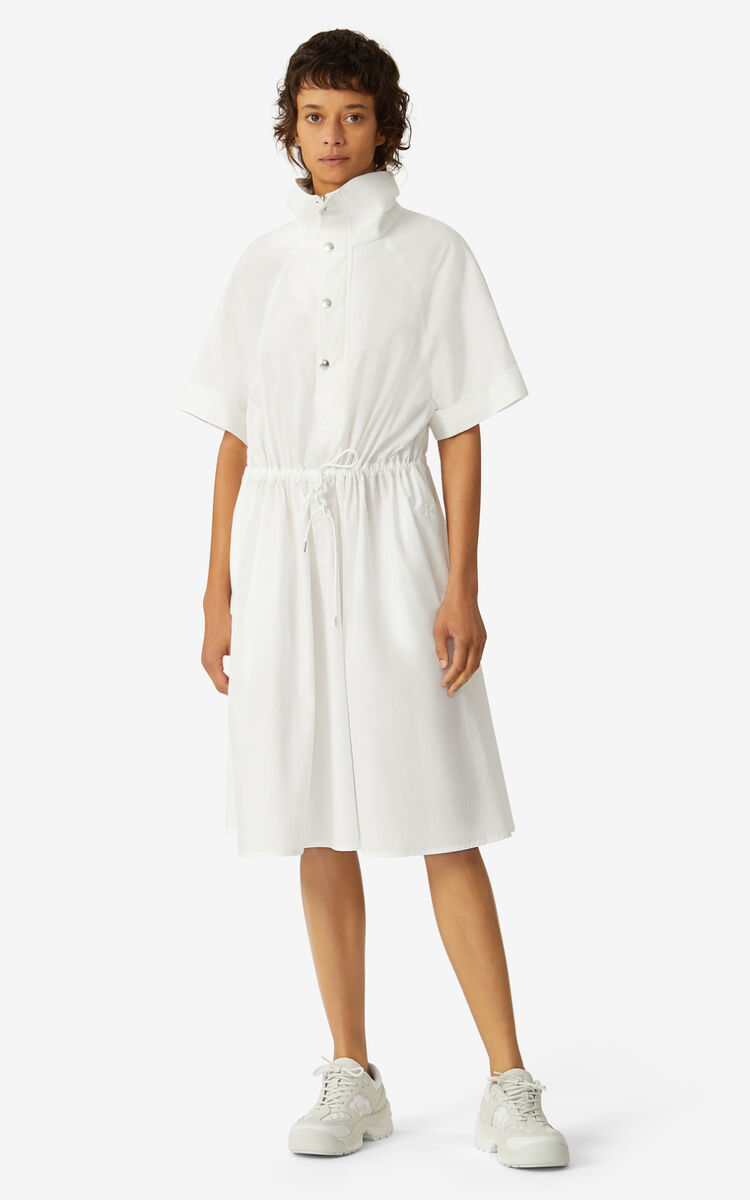 WHITE Fitted shirt dress for women KENZO