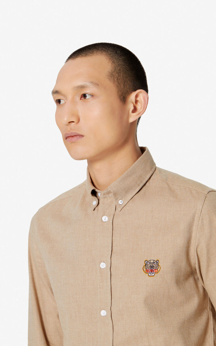 CAMEL Tiger slim-fit shirt for men KENZO