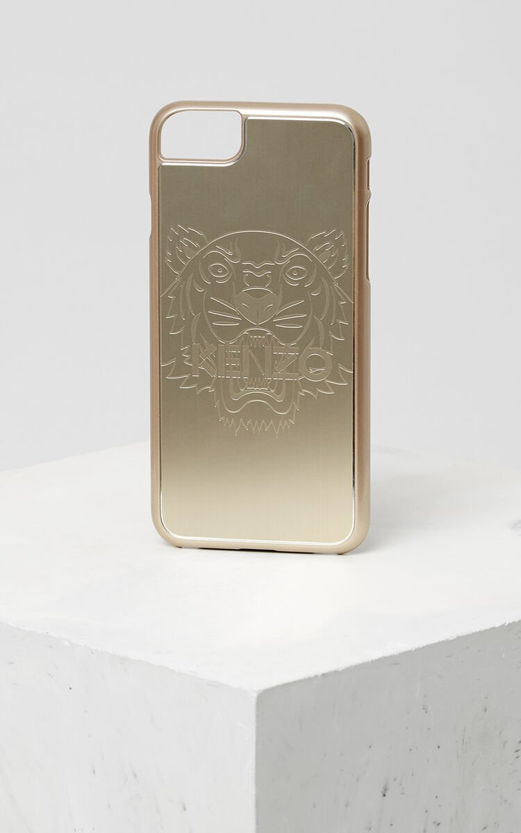 Tiger iPhone 7+ case, GOLD, KENZO