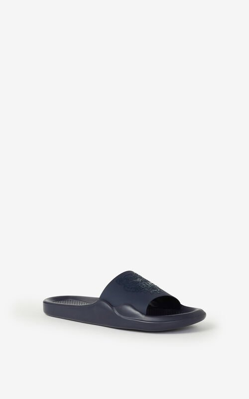 NAVY BLUE Pool Tiger flip flops KENZO