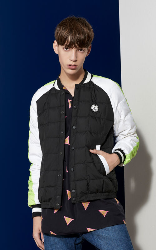 Quilted Bomber Jacket , BLACK, KENZO
