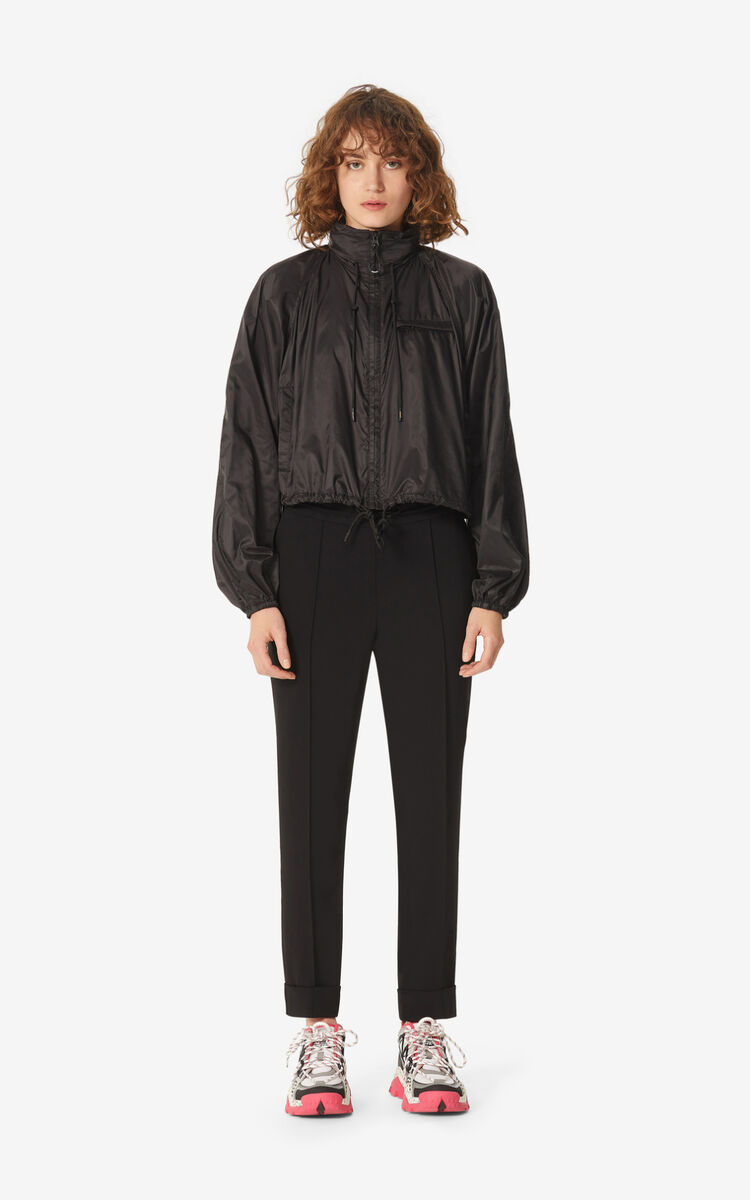 BLACK Cropped windbreaker for women KENZO
