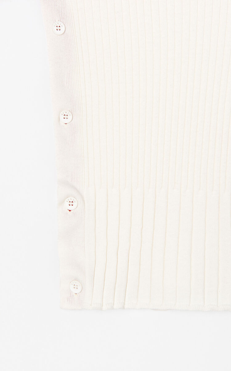 WHITE Colour block ribbed jumper for women KENZO