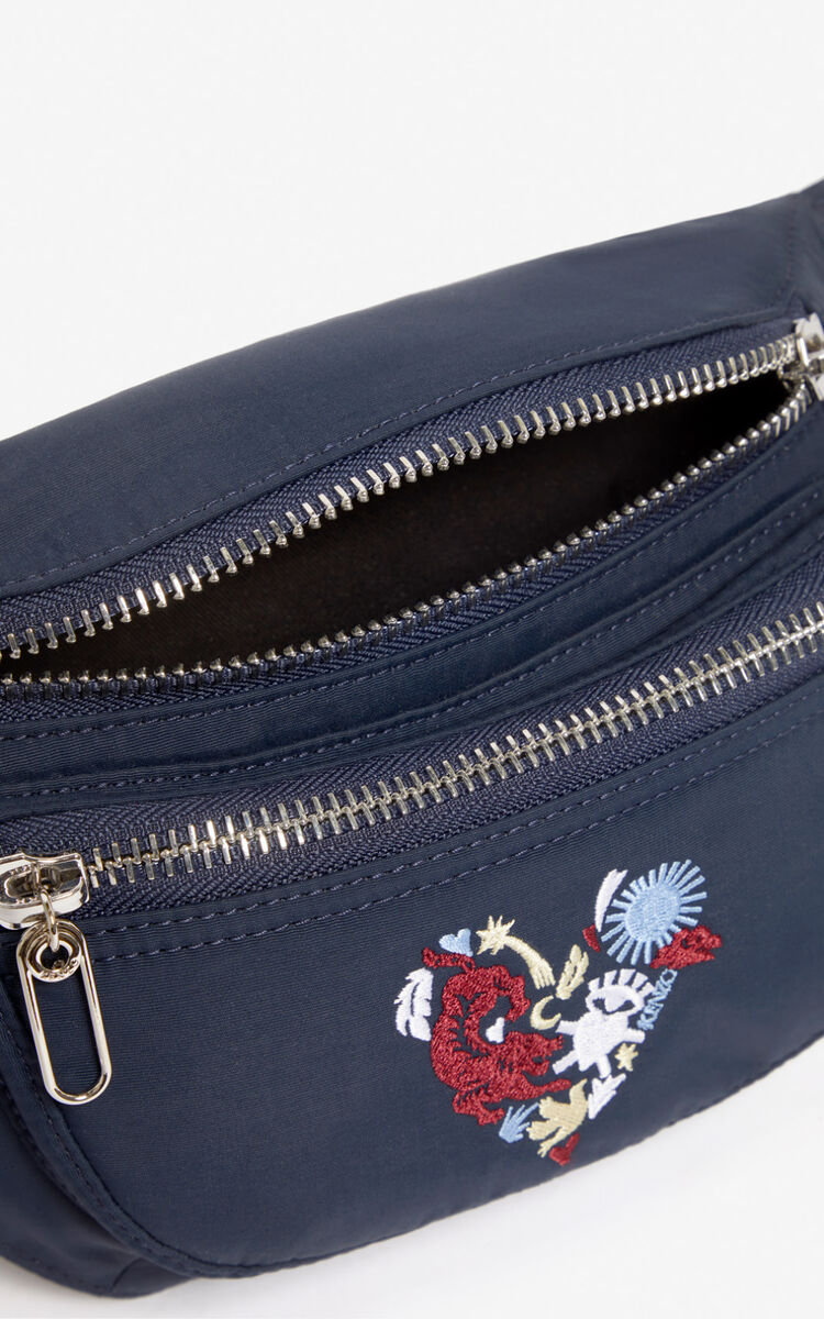 MIDNIGHT BLUE 'Lucky Star' bumbag for unisex KENZO