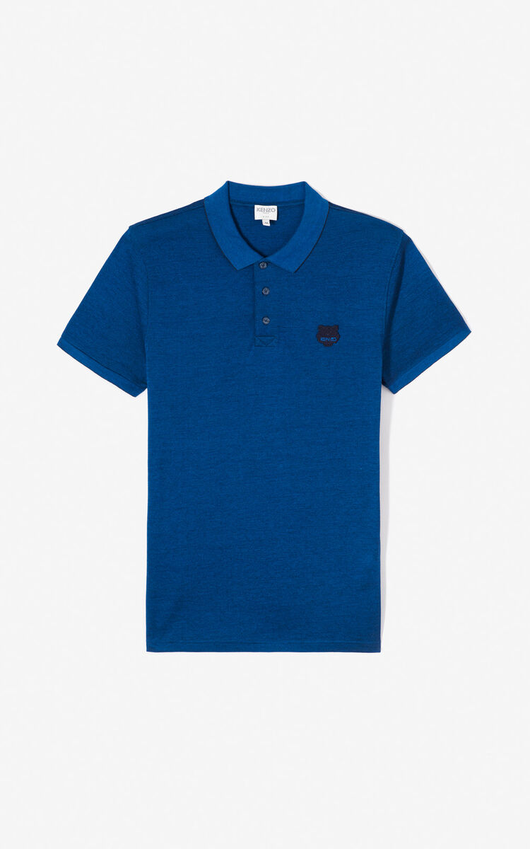 NAVY BLUE Fitted Tiger polo shirt for women KENZO