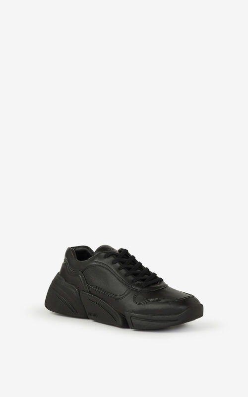 BLACK Kross leather sneakers for women KENZO