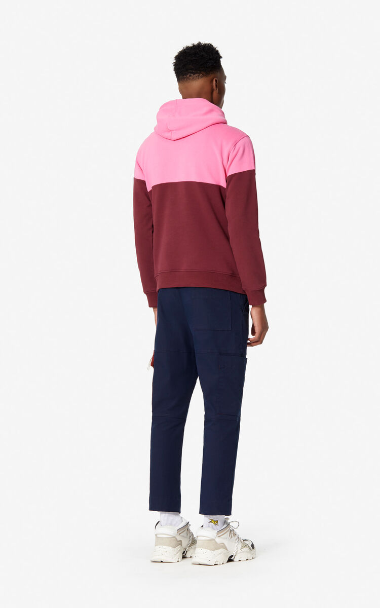 BORDEAUX Two-tone Tiger hoodie for women KENZO
