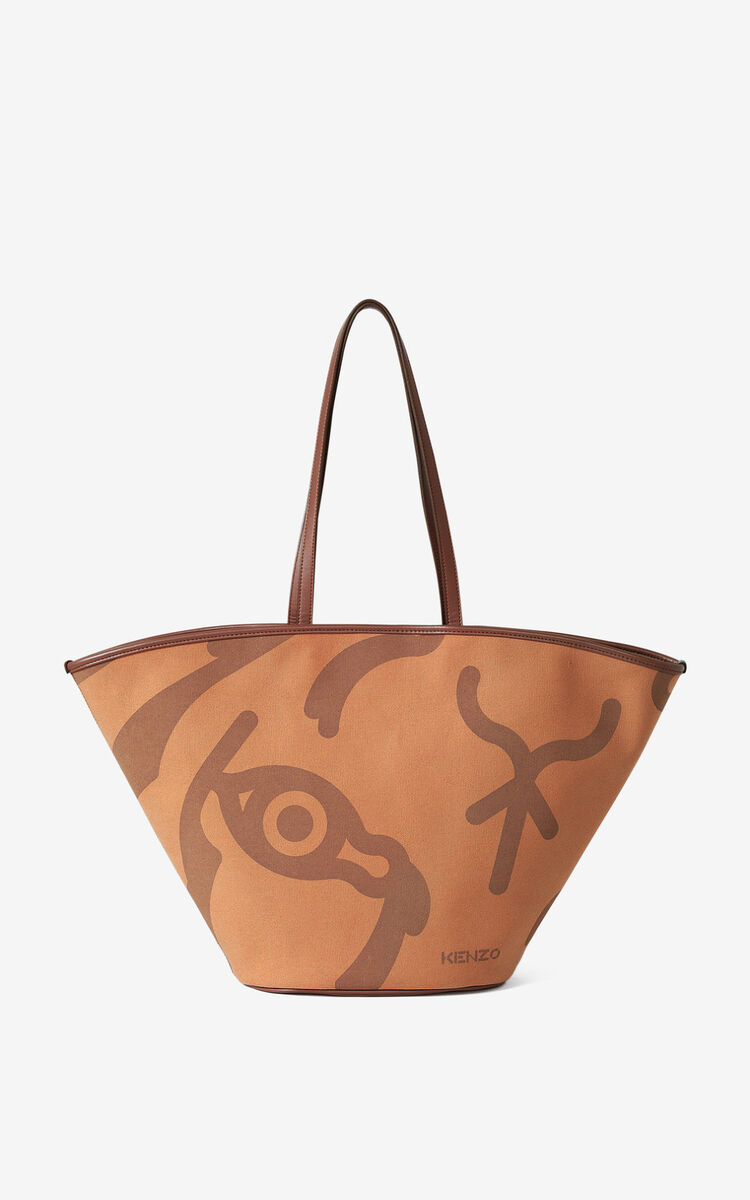 COGNAC Large KENZO Arc tote bag for women
