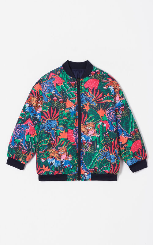 NAVY BLUE Reversible 'Fantastic Jungle' jacket for women KENZO