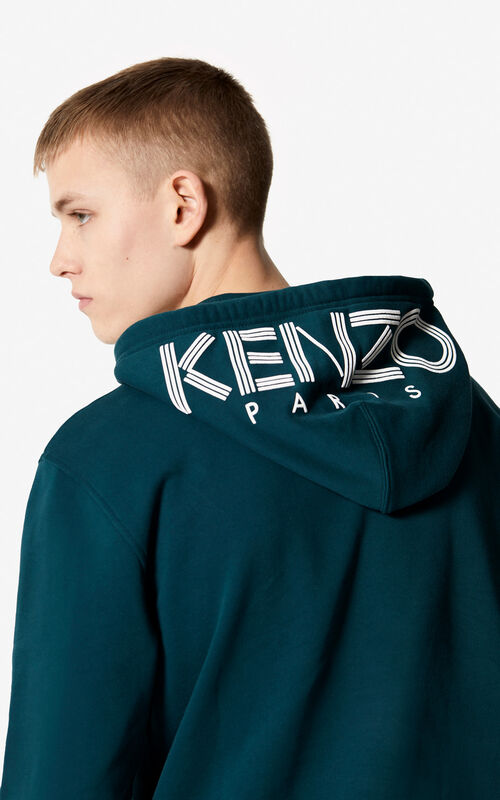 PINE KENZO Logo hooded sweatshirt for men