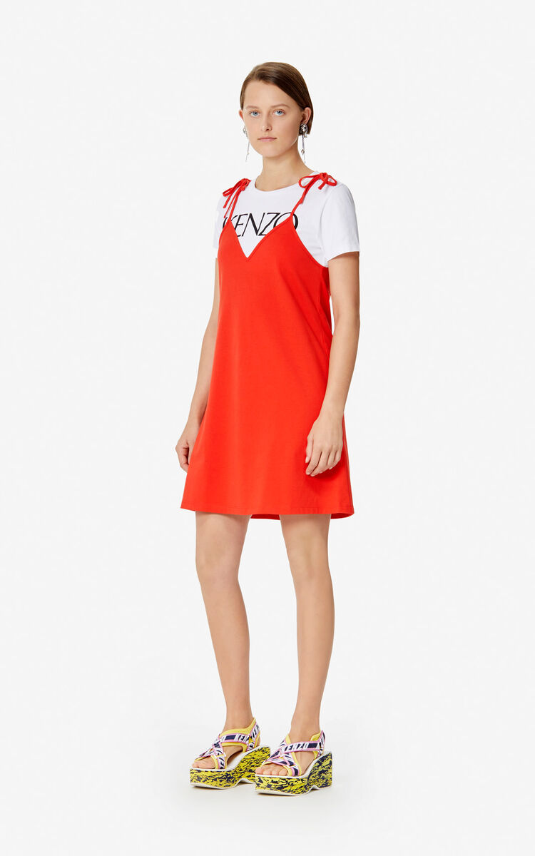 MEDIUM RED 2-in-1 dress for women KENZO