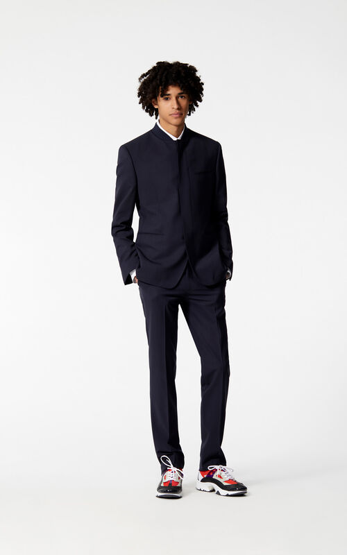 MIDNIGHT BLUE High-collar jacket for men KENZO