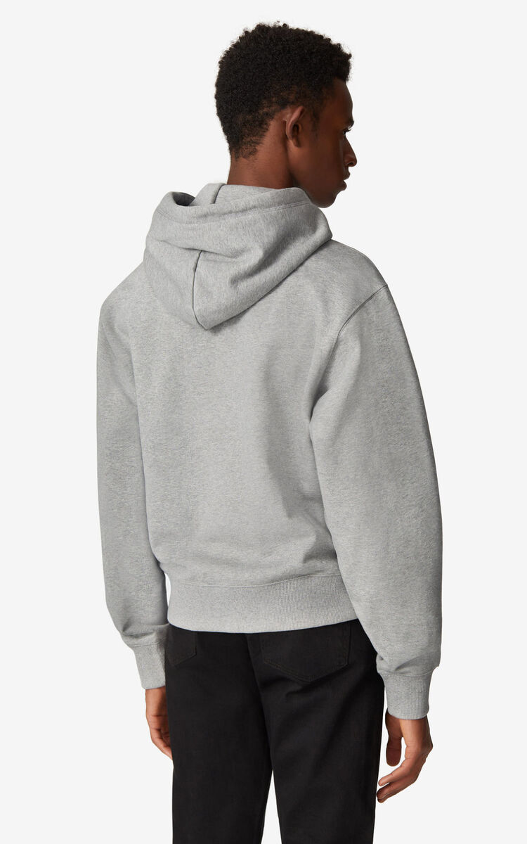 PEARL GREY K-Tiger hooded sweatshirt for women KENZO