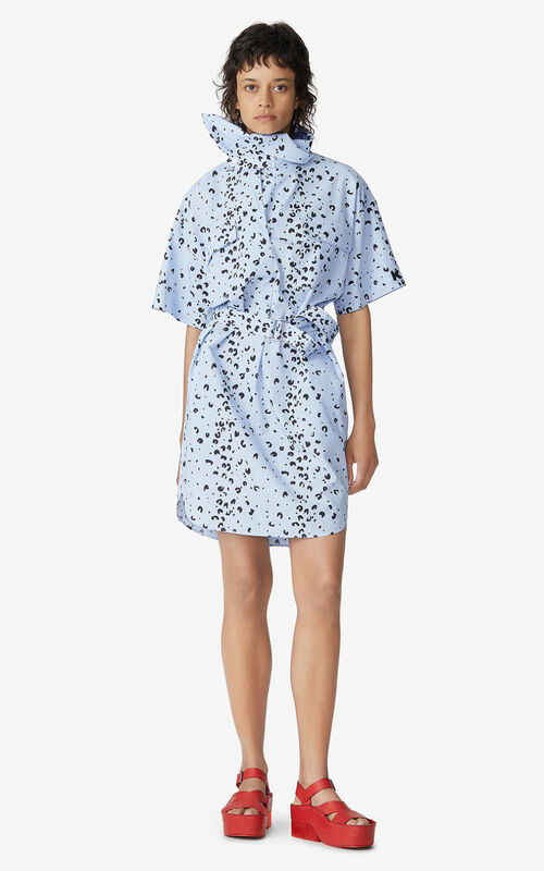 LAVENDER Belted tunic dress for women KENZO